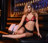 Jess Davies teases in her black and red lingerie 6