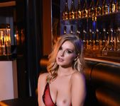 Jess Davies teases in her black and red lingerie 8
