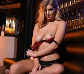 Jess Davies teases in her black and red lingerie 10