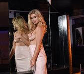 Jess Davies teases in her white skirt and pink lingerie top 10