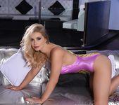 Jess Davies teasing in her pineapple print bodysuit 3