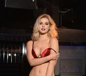 Jess Davies teases in black and red lingerie 7