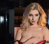 Jess Davies teases in black and red lingerie 8