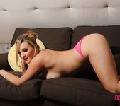 Jodie teases on the sofa 15
