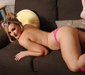 Jodie teases on the sofa 16