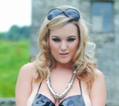Jodie Gasson strips outdoors from her secret agent attire 9