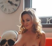 Jodie Gasson teases on the red sofa 16