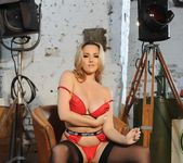 Jodie Gasson teasing in her Hustler lingerie and stockings 9
