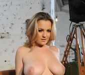 Jodie Gasson teasing in her Hustler lingerie and stockings 10