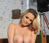 Jodie Gasson teasing in her Hustler lingerie and stockings 11