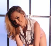 Jodie Gasson teasing in her tie top and panties 3