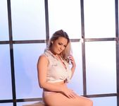 Jodie Gasson teasing in her tie top and panties 4