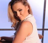 Jodie Gasson teasing in her tie top and panties 8