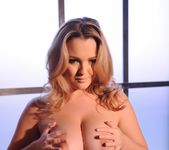 Jodie Gasson teasing in her tie top and panties 14