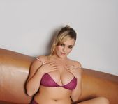 Jodie Gasson teasing in purple lingerie 3