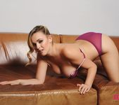 Jodie Gasson teasing in purple lingerie 8