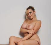 Jodie Gasson teasing in purple lingerie 16
