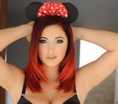 Lucy V wearing her sexy black lingerie and Mouseketeer Ears 8