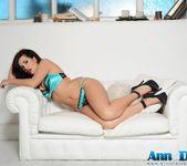 Ann Denise teasing in her sexy aqua green lingerie 4