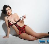 Ann Denise teasing in a skimpy black and red 1 piece 5