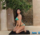 Ann Denise teases in her green bikini 4
