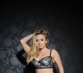 Holly Gibbons teasing in white and black lingerie 3