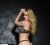 Holly Gibbons teasing in white and black lingerie 5