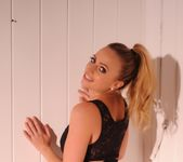 Holly Gibbons in black top and high waist panties 3