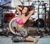 Jennifer Ann teasing in her pink sheer top 5