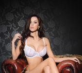 Jennifer teasing in her white lingerie 2