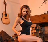 Jennifer Ann strips out of her tight black dress 7