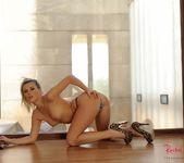 Rachel McDonald strips naked from her leopard print lingerie 9