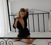 Rachel McDonald strips nude from her sexy black lingerie 5