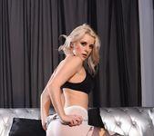 Rachel teases in her black bras and batman stockings 5
