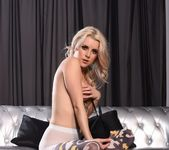 Rachel teases in her black bras and batman stockings 8