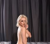 Rachel teases in her black bras and batman stockings 15