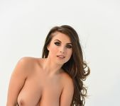 Sarah shows off her beautiful breasts in her black lingerie 12