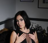 Summer teasing in her black bodysuit 2