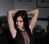 Summer teasing in her black bodysuit 3