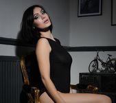 Summer teasing in her black bodysuit 5