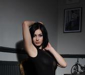 Summer teasing in her black bodysuit 6