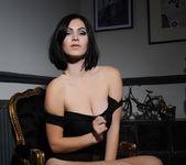 Summer teasing in her black bodysuit 8