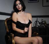Summer teasing in her black bodysuit 9