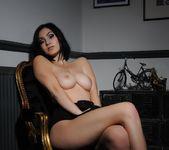 Summer teasing in her black bodysuit 11