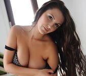 Ivy Nedkova teasing in her black lingerie and stockings 7