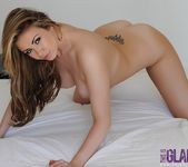 Leah Francis strips nude from her black thong 14