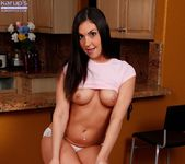 Brittany Shae bending over and spreading in the kitchen 5