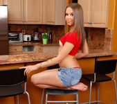 Liza Rowe - naked in the kitchen 5