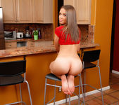 Liza Rowe - naked in the kitchen 9