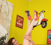 Becky Perry teen spreading her long legs 11